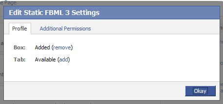 how to add a custom tab to a facebookfanpage/ Settings