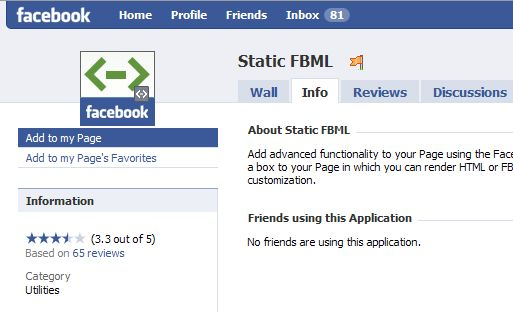 how to add a custom tab to a facebookfanpage/ Static