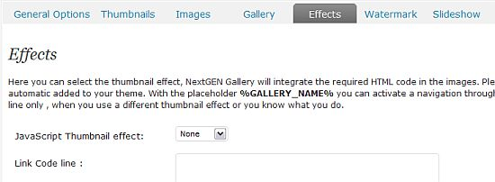 Link NextGEN Gallery Images to an Individual Page or Post in WordPress