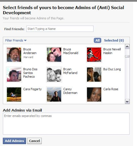 how to give admin on facebook page