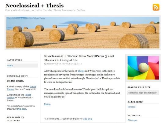 Thesis theme developer