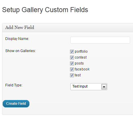 NextGen Custom Fields Setup