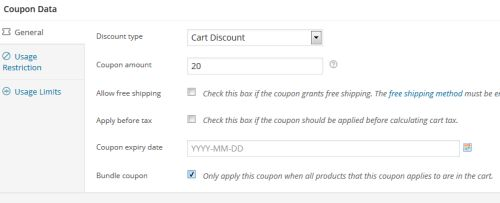 WooCommerce Bundle Style Coupons