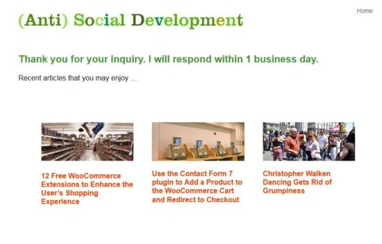 (Anti) Social Development Thank You Page