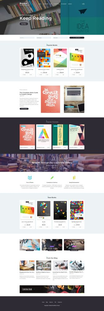 Bookie - 9 WordPress Themes for Selling Books Online