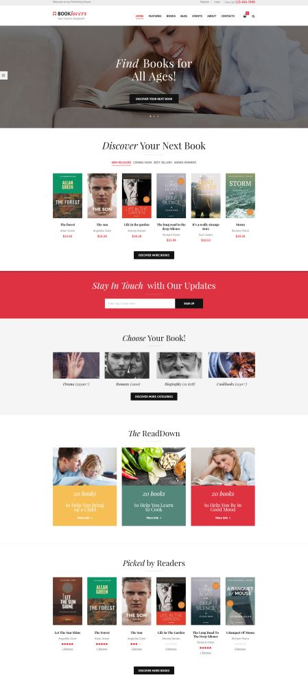 Book Lovers - 9 WordPress Themes for Selling Books Online
