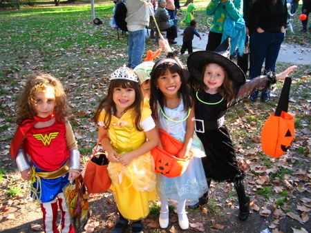 Wonder Woman, Belle, Cinderella and the Witch