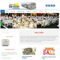 Responsive WordPress Theme for Downtown Henderson