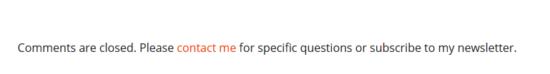 Closing WordPress Comments