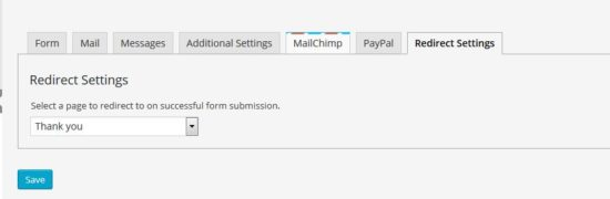 Contact Form 7 - Success Page Redirects