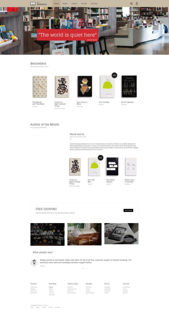 Aurum - 9 WordPress Themes for Selling Books Online