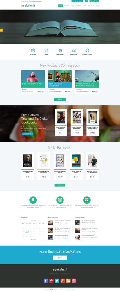Bookshelf - 9 WordPress Themes for Selling Books Online