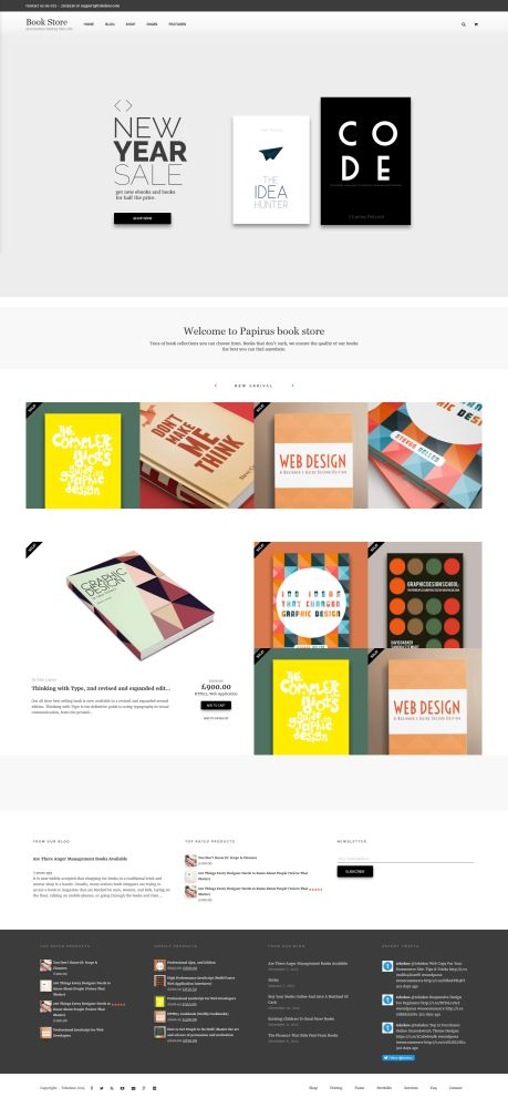 Papirus - 9 WordPress Themes for Selling Books Online
